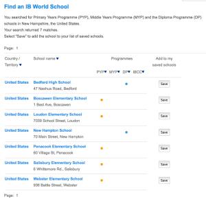 IB Schools in NH